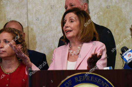 Editorial picture of US Speaker Nancy Pelosi press conference, Bonaventure Town Center Club, Weston, Florida, USA - 03 Oct 2019