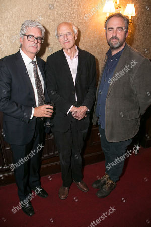 Stock Photo of Matthew Byam Shaw (Producer), Michael Frayn (Author) and Jeremy Herrin (Director)