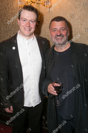 Stock Image of Daniel Rigby (Garry Lejeune) and Steven Moffat