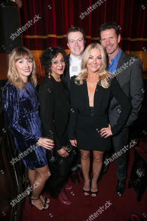 Stock Photo of Lisa McGrillis (Brooke Ashton), Meera Syal (Dotty Otley), Daniel Rigby (Garry Lejeune), Sarah Hadland (Belinda Blair) and Lloyd Owen (Lloyd Dallas)
