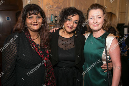 Tanika Gupta, Meera Syal (Dotty Otley) and Lesley Manville