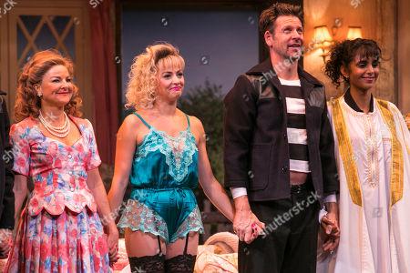 Sarah Hadland (Belinda Blair), Lisa McGrillis (Brooke Ashton), Lloyd Owen (Lloyd Dallas) and Anjli Mohindra (Poppy Norton Taylor) during the curtain call