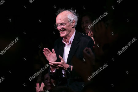 Michael Frayn (Author) during the curtain call