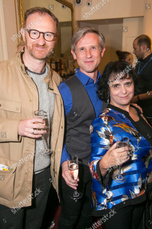 Stock Photo of Mark Gatiss, Ian Hallard and Nica Burns (Producer)