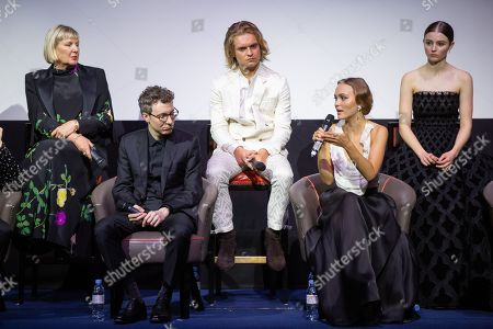 Liz Watts, Nicholas Britell, Tom Glynn-Carney, Lily-Rose Depp and Thomasin McKenzie