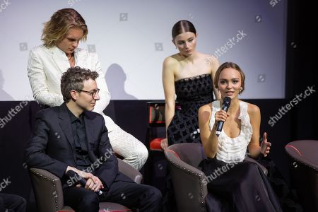 Tom Glynn-Carney, Nicholas Britell, Thomasin McKenzie and Lily-Rose Depp