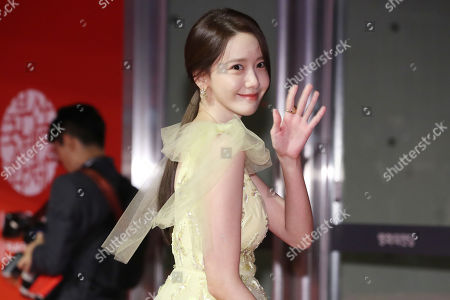 Stock Picture of Im Yoon-ah poses as she arrives for the opening ceremony of the 24th Busan International Film Festival (BIFF) in Busan, South Korea, 03 October 2019. The BIFF will screen 303 films from 85 countries and will runs from 03 to 12 October 2019.
