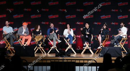 Stock Image of Nick Kroll, Mark Levin, Jennifer Flackett, Andrew Goldman, Emily Altman, Jaboukie Young-White, Jessi Klein, Jason Mantzoukas