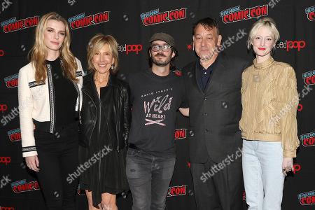 Betty Gilpin, Lin Shaye, Nicholas Pesce (Director), Sam Raimi (Producer) and Andrea Riseborough