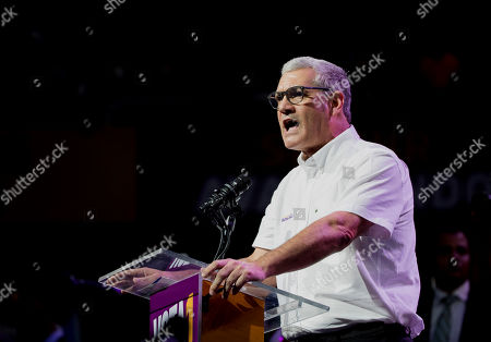 Presidential candidate Gonzalo Castillo of the Dominican Liberation Party (PLD), speaks during a campaign event at the Palacio de los Deportes of Santo Domingo, Dominican Republic, 03 October 2019. Dominican President Danilo Medina gave his support to Castillo during the event. The Dominican Republic general election is scheduled to take place 17 May 2020.