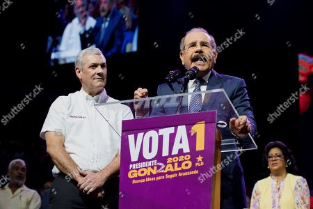 Editorial image of Dominican President gives support for candidate Gonzalo Castillo in primary elections, Santo Domingo, Dominican Republic - 03 Oct 2019