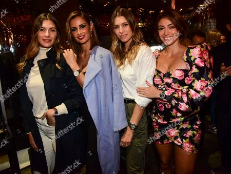 Camille Cerf, Malika Menard, Laury Thilleman and Rachel Legrain-Trapani