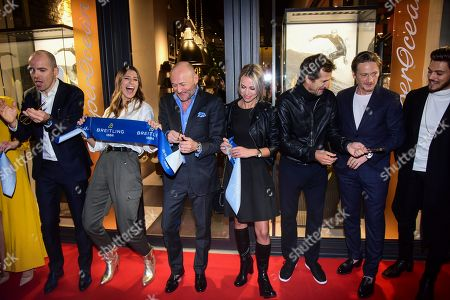 Laury Thilleman, Marion Rousse, Guillaume Canet, Benoit Magimel, Rayane Bensetti and guests