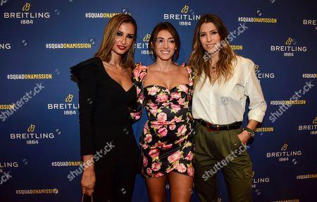 Malika Menard, Rachel Legrain-Trapani and Laury Thilleman