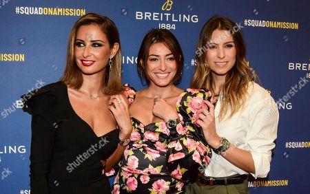 Stock Picture of Malika Menard, Rachel Legrain-Trapani and Laury Thilleman