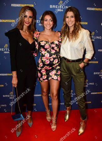 Stock Image of Malika Menard, Rachel Legrain-Trapani and Laury Thilleman