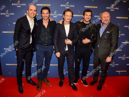Raphael Personaz, Benoit Magimel, Guillaume Canet and guests