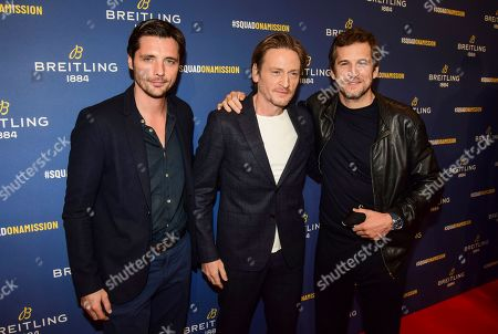 Stock Photo of Raphael Personnaz, Benoit Magimel and Guillaume Canet