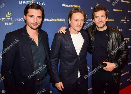 Raphael Personnaz, Benoit Magimel and Guillaume Canet