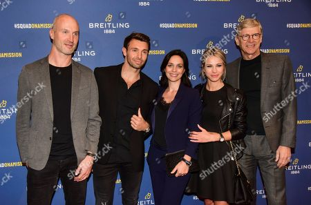 Thierry Omeyer, Vincent Clerc, Nathalie Pechalat, Marion Rousse and guest