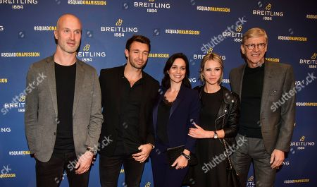 Stock Image of Thierry Omeyer, Vincent Clerc, Nathalie Pechalat, Marion Rousse and guest