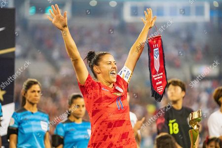 The United States defender Ali Krieger (11) during the Victory Tour presented by Allstate Women's International Soccer match between South Korea and the United States at Bank of American Stadium on in Charlotte, NC