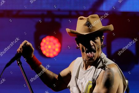 Stock Image of Anthony Kiedis of the band Red Hot Chili Peppers performs during the Rock in Rio music festival in Rio de Janeiro, Brazil, early