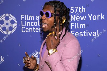 "Trinidad James attends the ""Uncut Gems"" premiere during the 57th New York Film Festival at Alice Tully Hall, in New York"