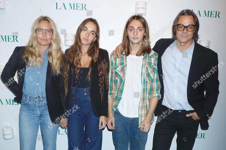 Stock Picture of Mary Frey, Gray Sorrenti, Arsun Sorrenti, and Mario Sorrenti