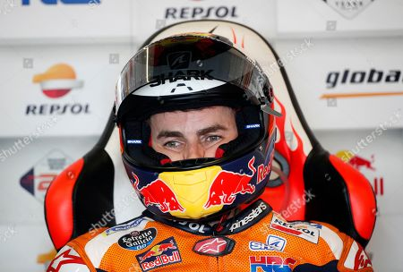 Spanish MotoGP rider Jorge Lorenzo of Repsol Honda Team prepares for the second free practice session of the Motorcycling Grand Prix of Thailand at Chang International Circuit, Buriram province, Thailand, 04 October 2019.