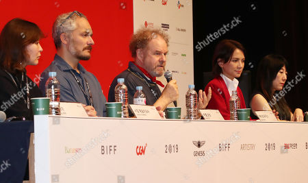 Editorial picture of New Currents jury at the Busan International Film Festival (BIFF), Korea - 04 Oct 2019