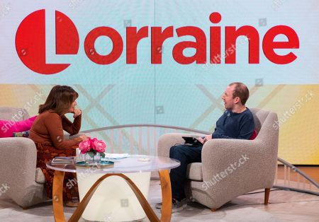 Stock Image of Lorraine Kelly and Lost Voice Guy