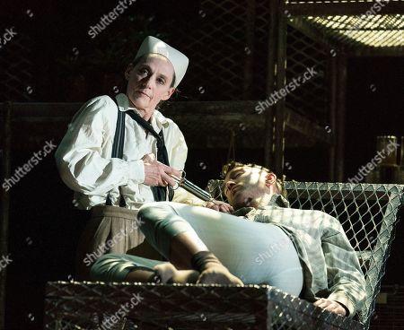 Bernadette Iglich as the Narrator, David Webb as Severin