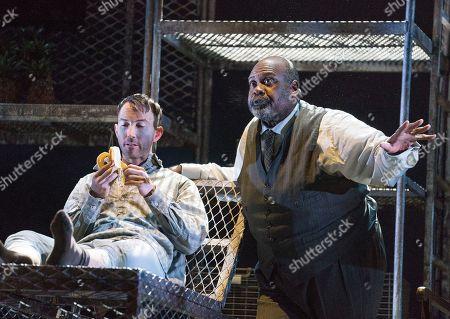 David Webb as Severin, Ronald Samm as Olin