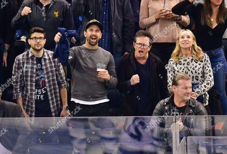 Jerry Ferrara, guest, Michael J Fox and Tracy Pollan