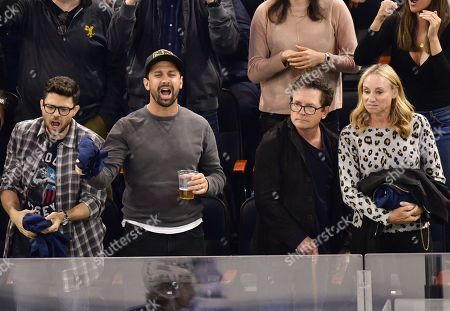 Editorial picture of Celebrities at New York Rangers v Winnipeg Jets NHL ice hockey match, Madison Square Garden, New York, USA - 03 Oct 2019