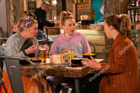 Ep 9899 Friday 18th October 2019 - 1st Ep Gemma Winter, as played by Dolly-Rose Campbell, is infuriated to find that a photo of her stuck in the turnstile has made the front page of the Gazette and that she is being harassed by journalists. She meets with a PR Agent in the Rovers who insist she could set up interviews and make Gemma a small fortune. Gemma is interested but suddenly starts to get stomach pains.
