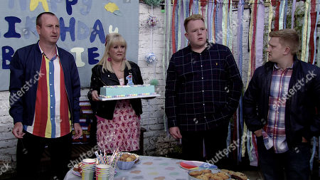Ep 9895 Wednesday 9th October 2019 - 1st Ep At Bertie's party in The Rovers' back yard Sinead Tinker fights back tears as she breaks the news to family and friends that she only has weeks to live. With Kirk Sutherland, as played by Andy Whyment, Beth Tinker, as played by Lisa George, Craig Tinker, as played by Colson Smith, Chesney Brown, as played by Sam Aston.