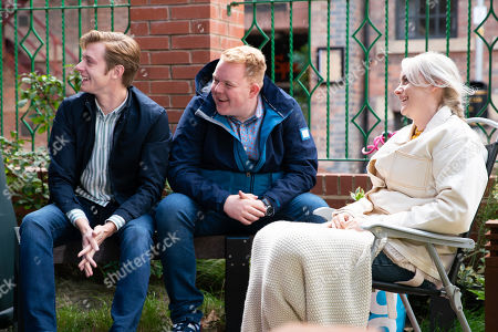 Stock Picture of Ep 9897 Wednesday 16th October 2019 - 1st Ep The severity of her illness hits Sinead Tinker, as played by Katie McGlynn, hard as she is forced to use a wheelchair to get to a family picnic. Daniel Osbourne, as played by Rob Mallard, Sinead, Beth, Kirk and Craig Tinker, as played by Colson Smith, enjoy the picnic in Victoria Garden but as Sinead tries to join a game of charades it is evident she is too poorly and needs to be taken home.