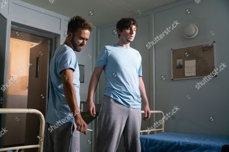 Ep 9901 Monday 21st October 2019 - 1st Ep As a riot breaks out in the prison. David Platt, as played by Jack P Shepherd, retreats to his cell. Abe Crowley, as played by Liam Boyle, drags a terrified Josh Tucker, as played by Ryan Clayton, into David's cell and handing David the scissors, tells him to do his worst. What will David do?