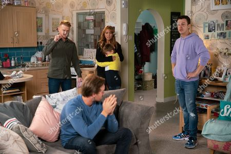 Ep 9893 Monday 7th October 2019 - 1st Ep When Claudia and Emma hear the smoke alarm going off Gary Windass, as played by Mikey North, Maria Connor, as played by Samia Longchambon, and Ryan Connor, as played by Ryan Prescott, burst into Maria's flat to find Ali Neeson, as played by James Burrows, asleep on sofa and a charred pizza in the oven. Maria grabs Liam Connor, as played by Charlie Wrenshall, and orders Ali to leave.