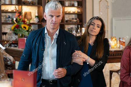 Ep 9893 Monday 7th October 2019 - 1st Ep Robert Preston, as played by Tristan Gemmill, lies to Michelle Connor, as played by Kym Marsh, saying he's spending the morning doing the accounts. Having found out from Liz that she had Robert in her cab earlier Michelle heads off in hot pursuit to the Chariot Hotel bar where admits that he intended to teach Ray a lesson. Michelle talks him out of it and persuades him to come home for a last minute holiday to Mallorca. Robert wonders how he's going to break the news to Vicky.