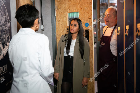 Ep 9900 Friday 18th October 2019 - 2nd Ep Yasmeen Nazir, as played by Shelley King, assures Alya Nazir, as played by Sair Khan, that she wants Geoff Metclafe, as played by Ian Bartholomew, to be part of the business. To anger her even more, Geoff suggests on scrapping her no alcohol policy.