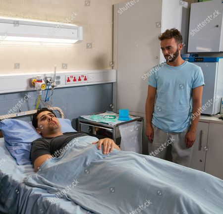 Ep 9899 Friday 18th October 2019 - 1st Ep David Platt's, as played by Jack P Shepherd, day goes from bad to worse when he goes to the medical wing to get his medication and is horrified to spot a bloodied and bruised Josh Tucker, as played by Ryan Clayton, waiting to get treatment.