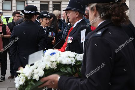 Dame Cressida Dick, DBE. QPM, Commissioner Metropolitan Police laying a wreath at P.C. Blakelock's Annual Memorial Service in Muswell Hill