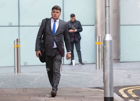 Dominic Chappell, Former owner of BHS, arrives at Southwark Crown Court. He is charged with tax evasion and money laundering. He is alledged to have engaged in fraud amounting to £500,000.