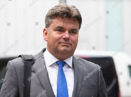 Stock Image of Dominic Chappell, Former owner of BHS, arrives at Southwark Crown Court. He is charged with tax evasion and money laundering. He is alledged to have engaged in fraud amounting to £500,000.