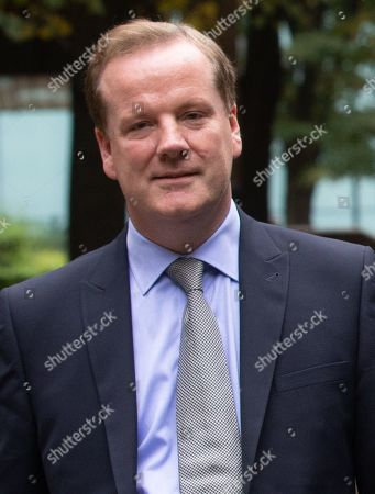 Stock Image of MP for Dover, Charlie Elphicke, leaves Southwark Crown Court. He is charged with three counts of sexual assault. He has entered a plea of not guilty to these charges. He will stand trial next summer. He allegedly kissed and groped a woman in June 2007 and was twice accused of sexually assaulting a second womanin April and May 2016.