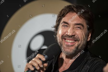 Stock Picture of Spanish actor and environmental activist Javier Bardem speaks during the ZFF Master session at the 15th Zurich Film Festival (ZFF), in Zurich, Switzerland, 04 October 2019. The festival runs from 26 September to 06 October 2019.