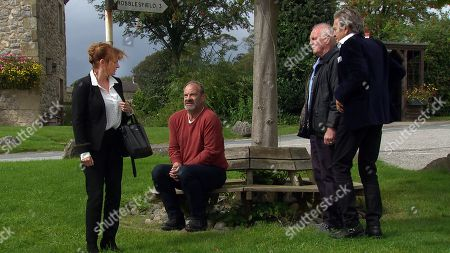 Ep 8618 & 8619 Tuesday 15th October 2019 Nicola King, as played by Nicola Wheeler, is furious when Jimmy King, as played by Nick Miles, throws a whitey in front of an important council 'big-wig' after accidently eating Rodney's space cakes. With Eric Pollard, as played by Chris Chittell, Rodney Blackstock, as played by Patrick Mower.